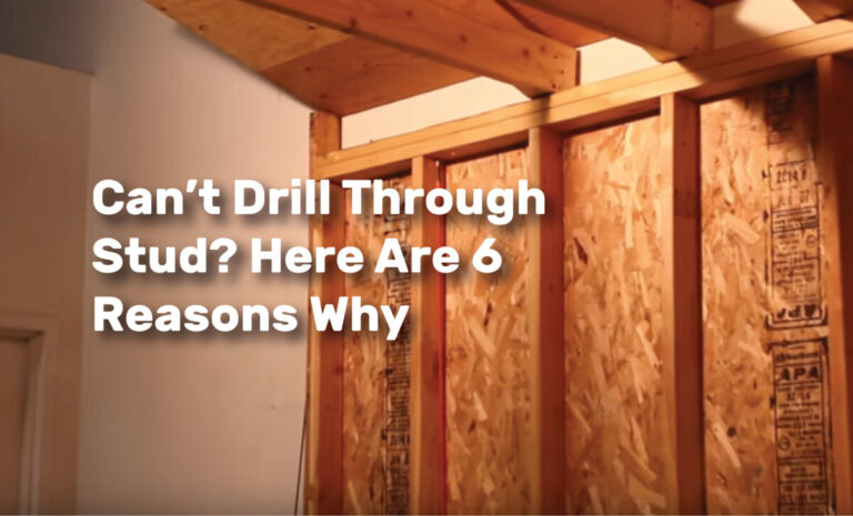 Can't Drill Through Stud? Here Are 6 Reasons Why realestate ke